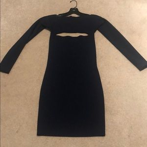 T By Alexander Wang knit navy dress size XS